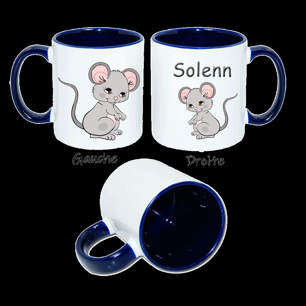 Mug Souris personnalisable avec un Prénom exemple Solenn