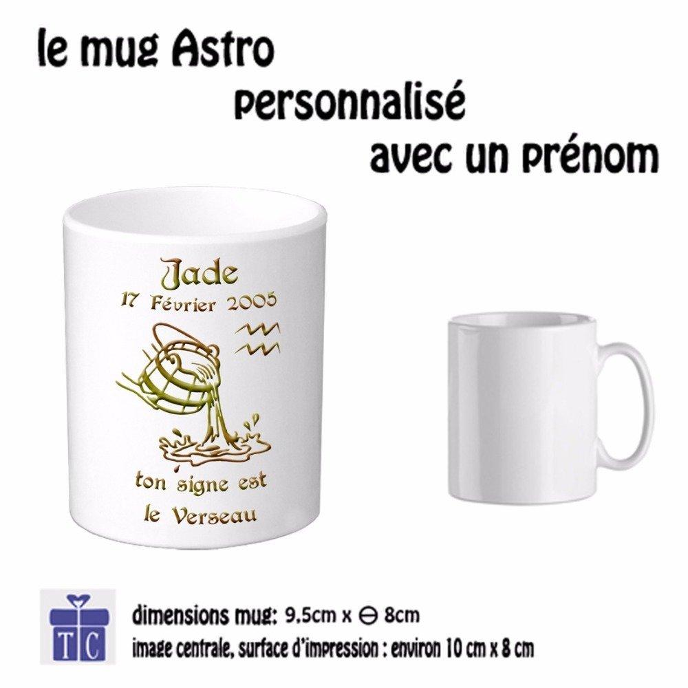 Mug Zodiaque Verseau à personnaliser (ex Jade)