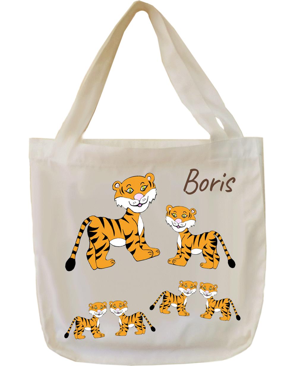 Tote Bags, agréable au toucher, motif Tigre, à personnaliser…..