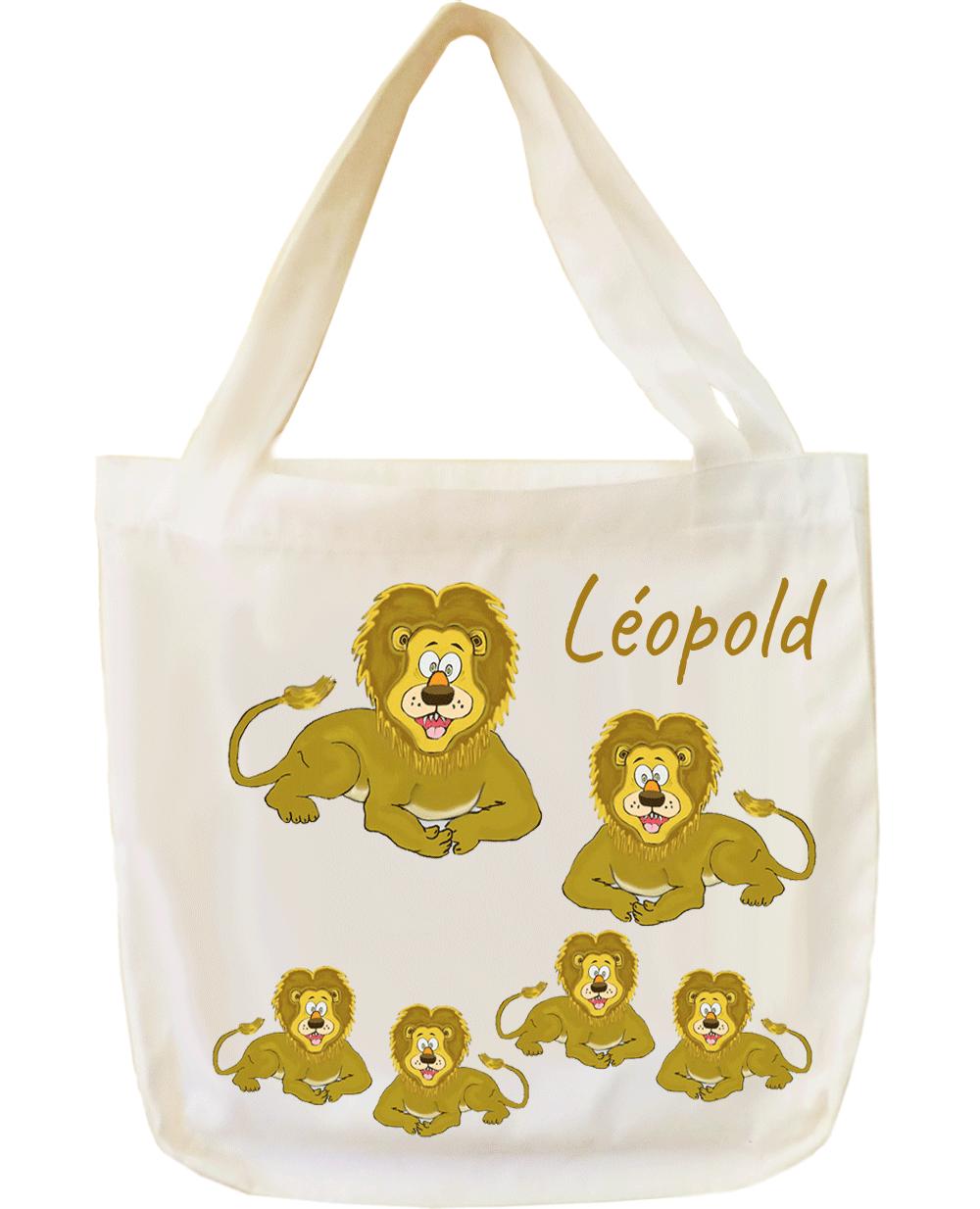 Tote Bags, agréable au toucher, motif Lion, à personnaliser…..