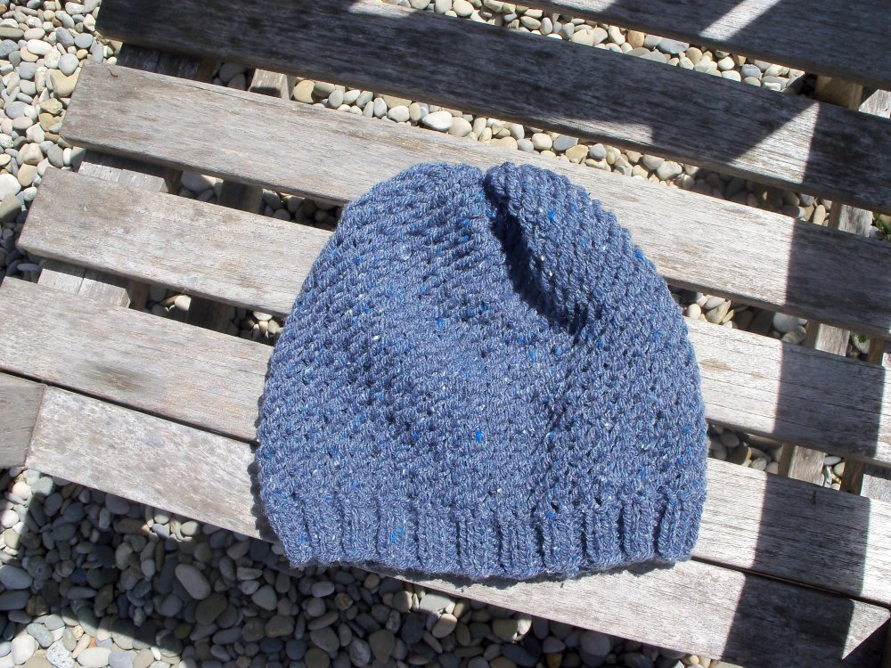Bonnet loose slouchy beanie tricoté main adulte