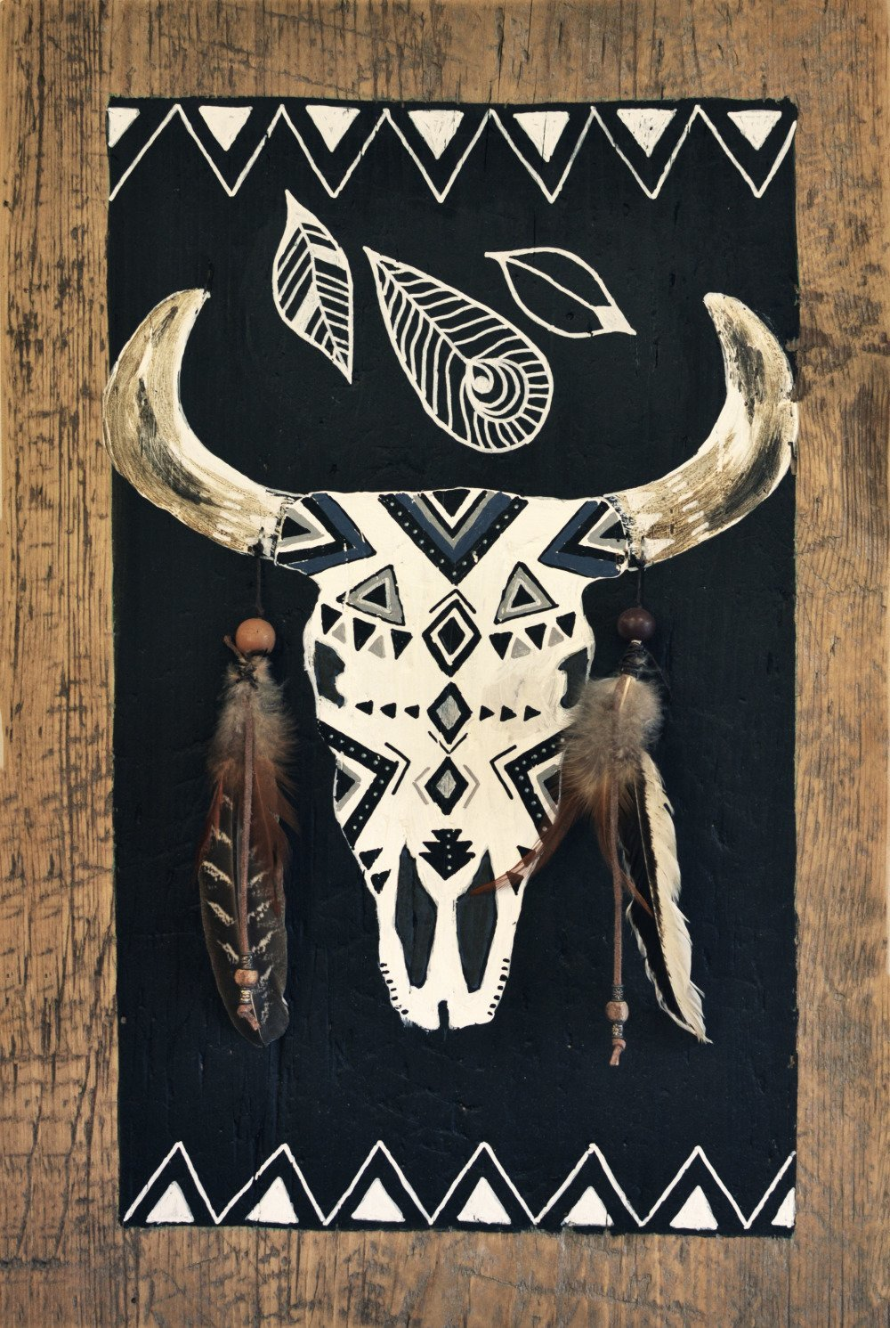 Tableau cow skull