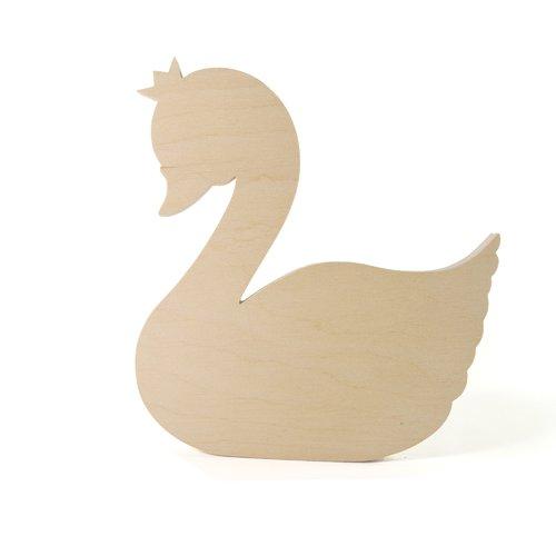 Forme en bois à décorer lovely swan - cygne