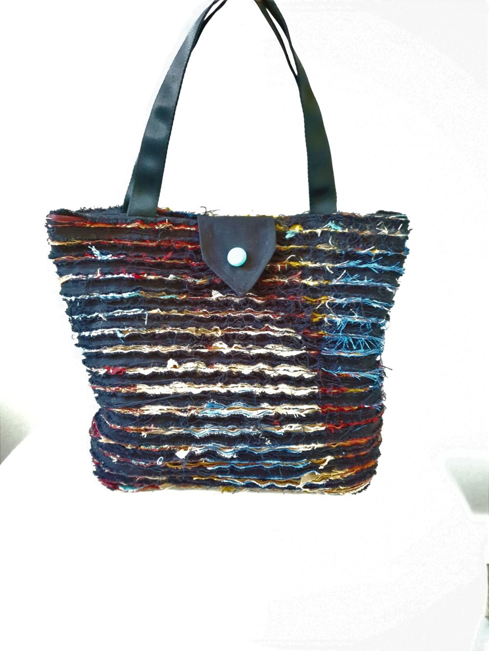 Sac cabas multicolore slashing