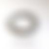 Bracelet fil elastique transparent, perles ronde de pierre gris naturel