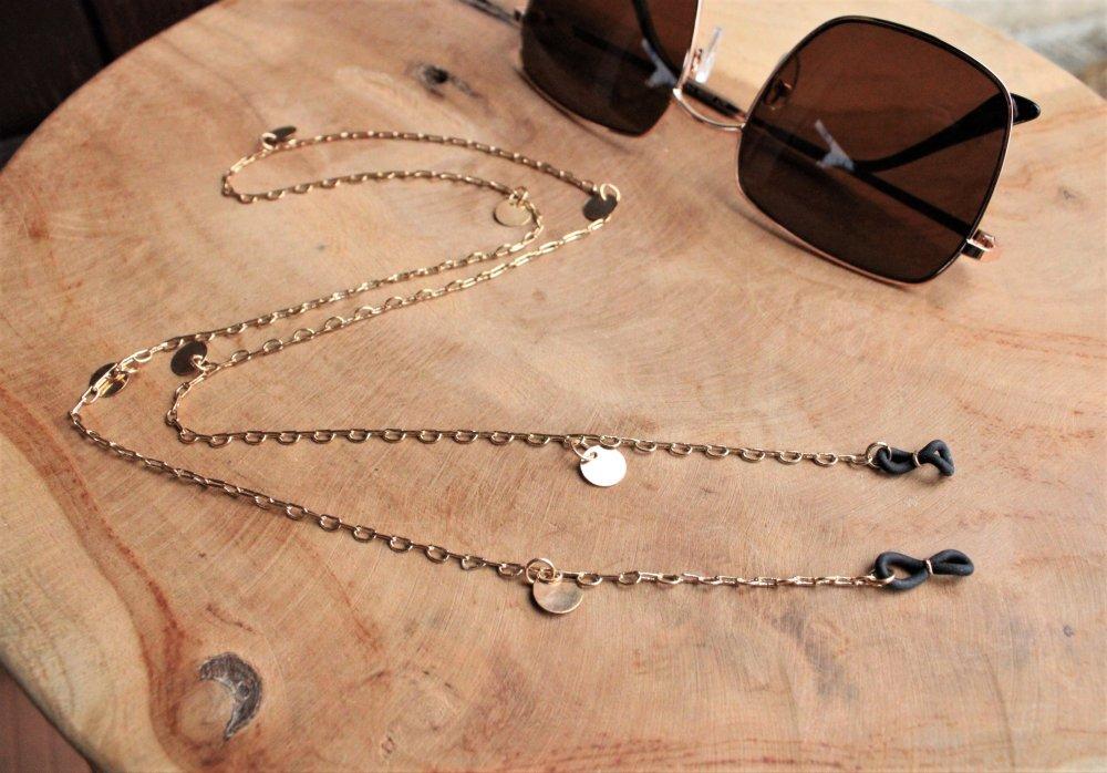 chaîne lunettes 70 cm couleur or doré