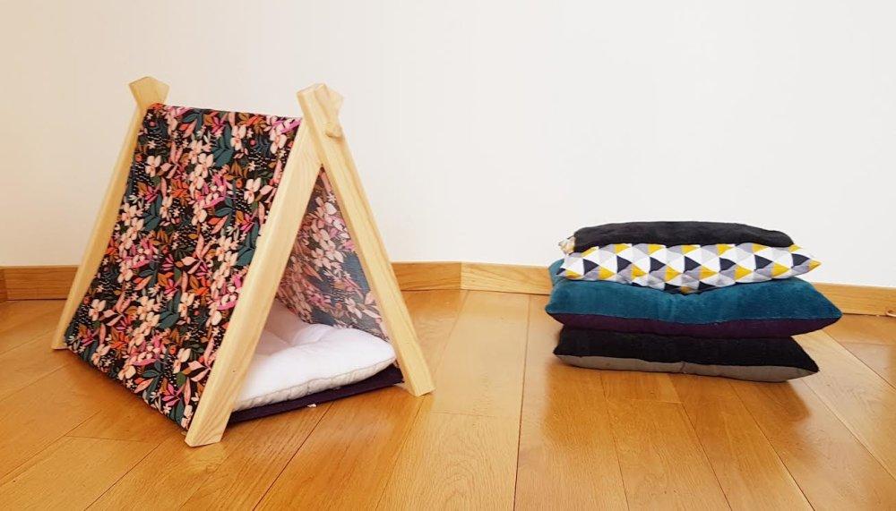 Tente Esprit Bucolique Tipticats, pour chats, petits chiens, lapins, animaux de compagnie.