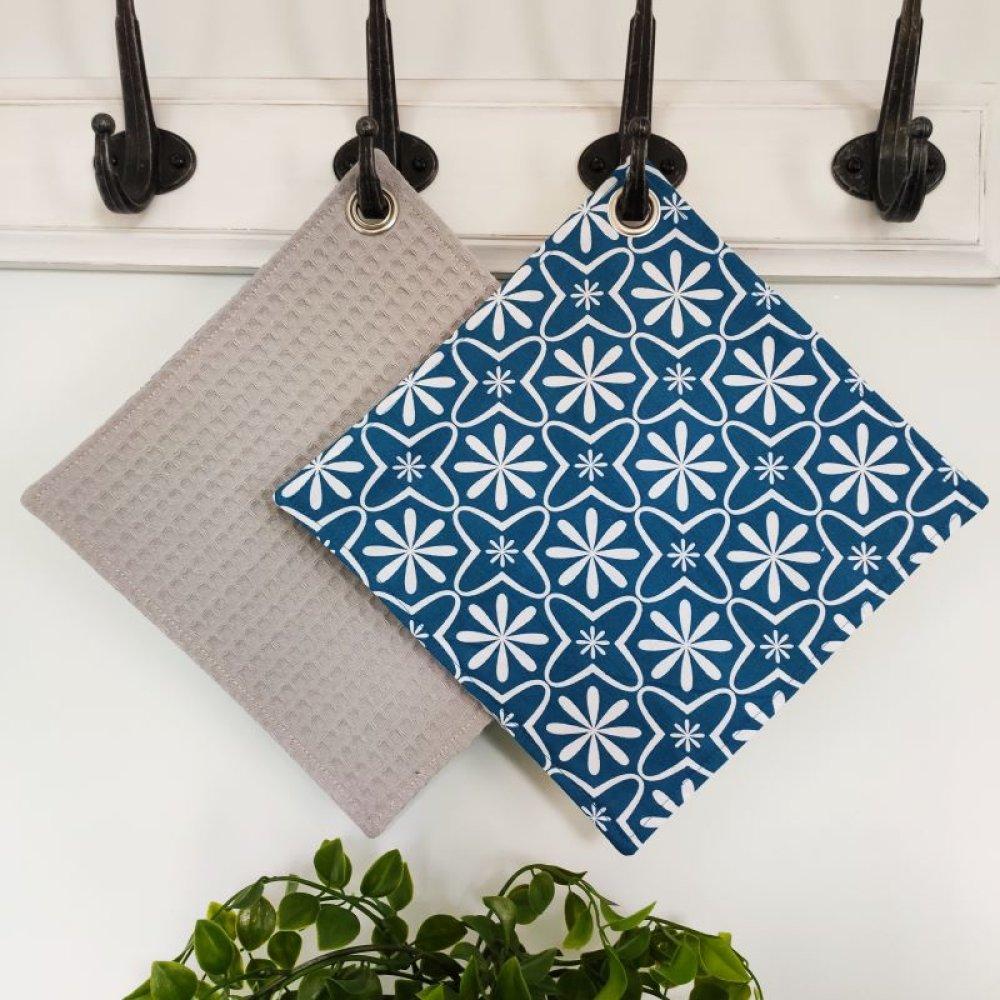 essuie tout lavable azulejos bleu