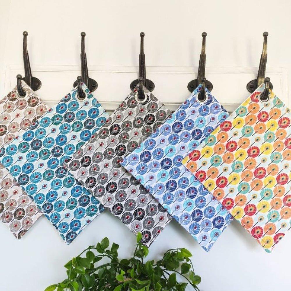 essuie tout lavable paon multicolore