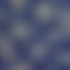 Coupon tissu japonais 20 x 25 cm - mini fleurs or - bleu foncé