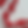 Ruban étoile de neige - 40 mm x 50 cm - rouge