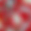 Coupon tissu japonais 20 x 25 cm - chien rouge
