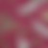 Coupon tissu japonais 20 x 25 cm oiseaux grues rouge blanc vert marron or