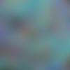 Coupon tissu japonais 20 x 25 cm plumes oiseaux - tons bleus