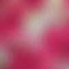 Coupon tissu japonais 20 x 25 cm - dragons - fond rouge