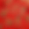 Coupon tissu japonais 20 x 25 cm - carpes koï - brun - or -rouge