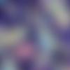 Coupon tissu japonais 20 x 25 cm papillons - violet