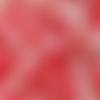 Coupon tissu japonais 45 x 55 cm fat quarter sakura mini fleurs or rouge rose