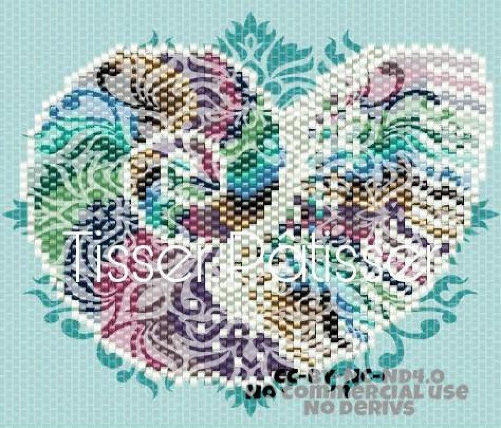 Diagramme tissage Nautile en Peyote Brick Stitch Perles Miyuki 11/0 - Fichier pdf