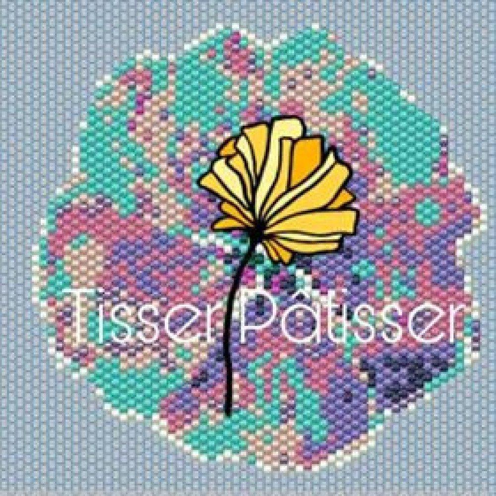 Diagramme tissage Fleur de lin en Peyote Brick Stitch Perles Miyuki 11/0 - Fichier pdf