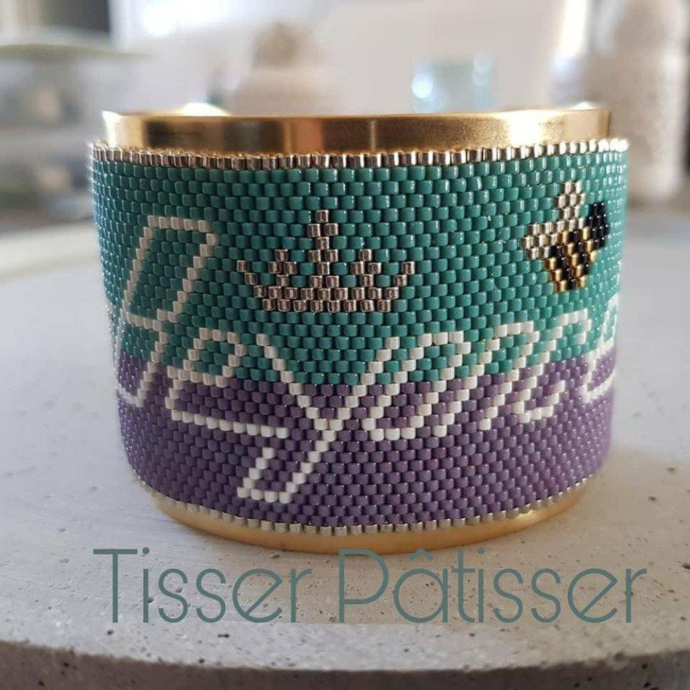 Diagramme bracelet BEYONCE Peyote Perles Miyuki 11/0 - Fichier pdf