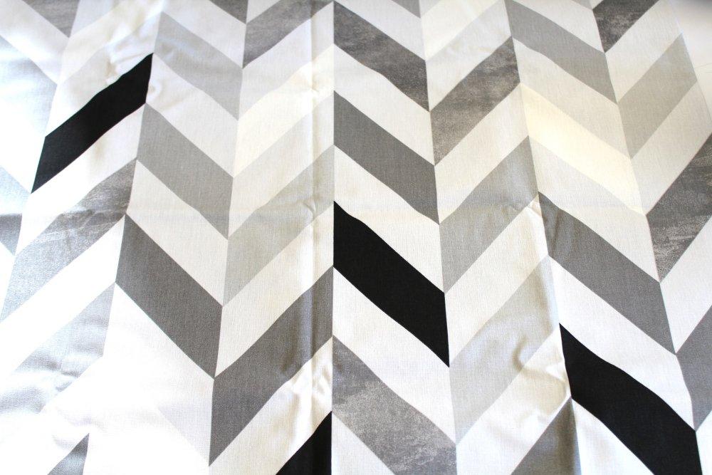 Coupon tissu ameublement gris, noir et blanc 70x50 cm