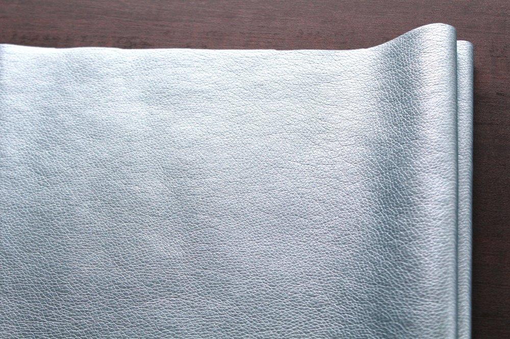 Simili cuir bleu glacier 50x70cm