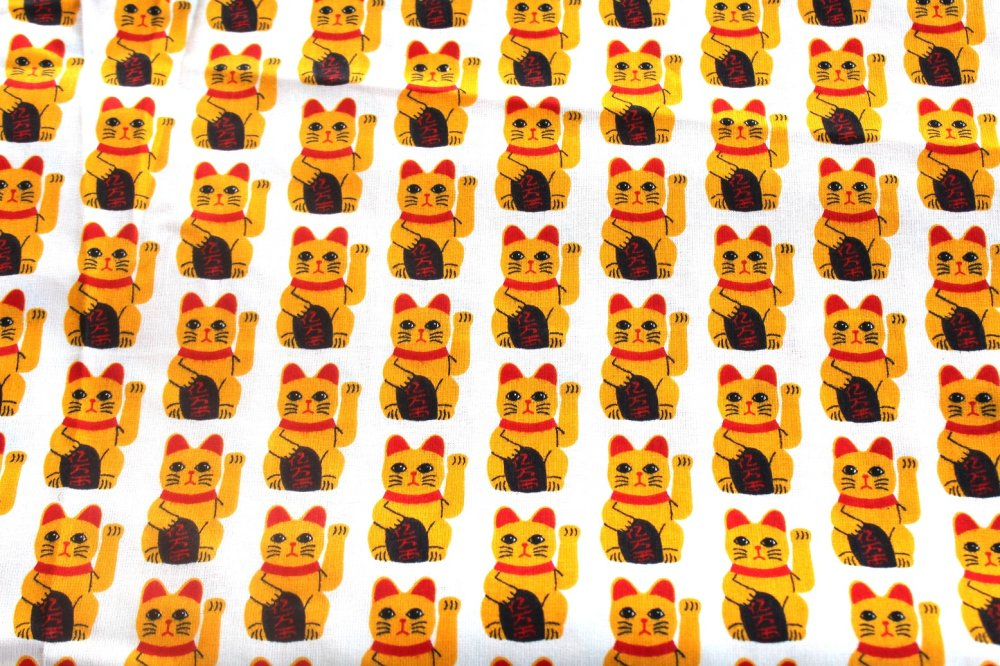 Coupon tissu enfant  50x70 cm chat