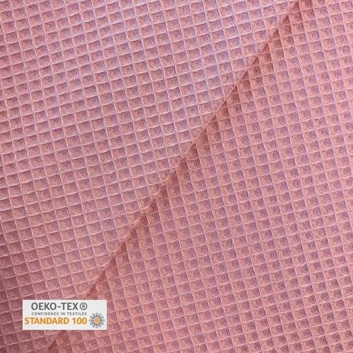 Tissu nid d'abeille - rose fane