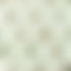 Tissu double gaze imprimée bio - arc en ciel vieux vert