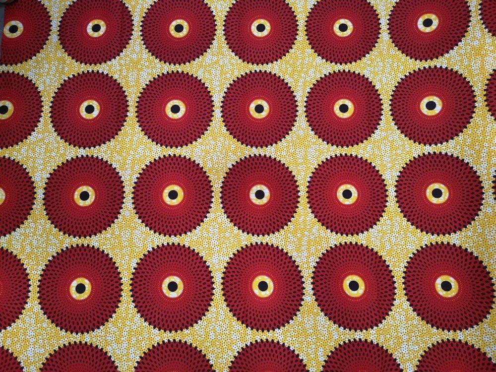 tissu wax africain vendu au metre coton