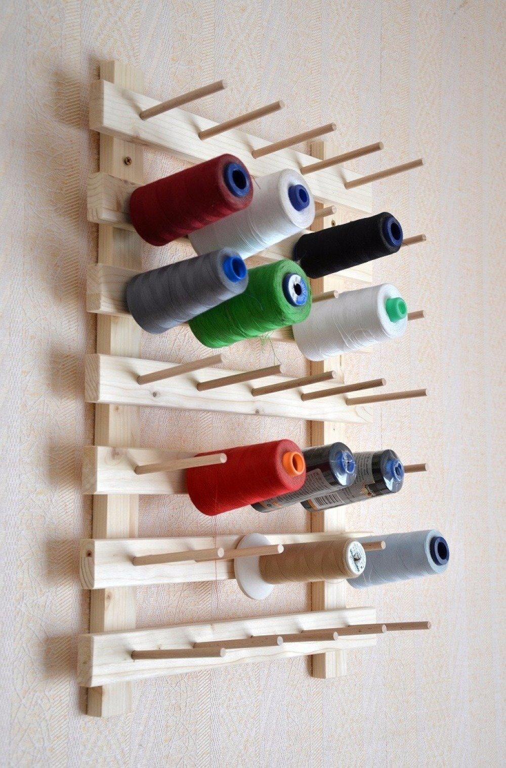 présentoir en bois, mural ou à poser, pour 35 cônes