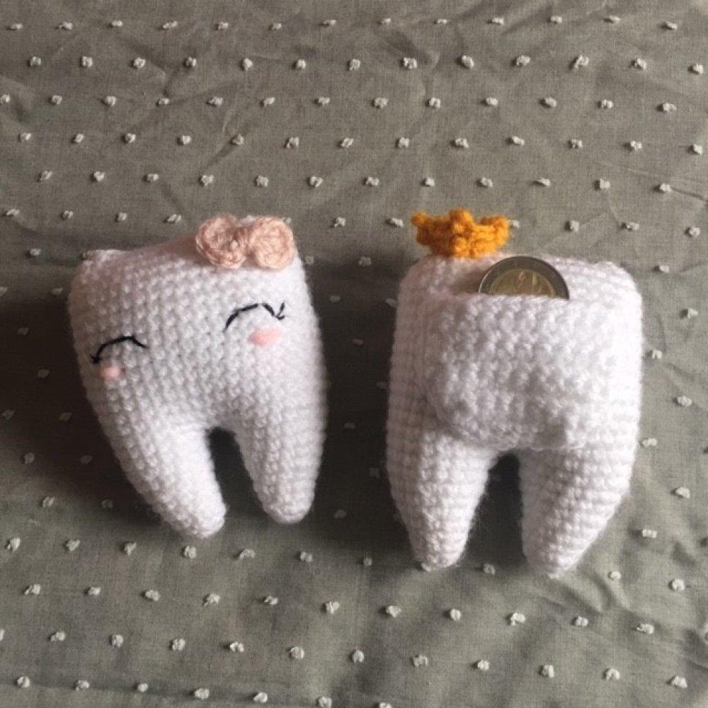 Quenotte le doudou des dents perdues , amigurumi crochet tutoriel patron pdf