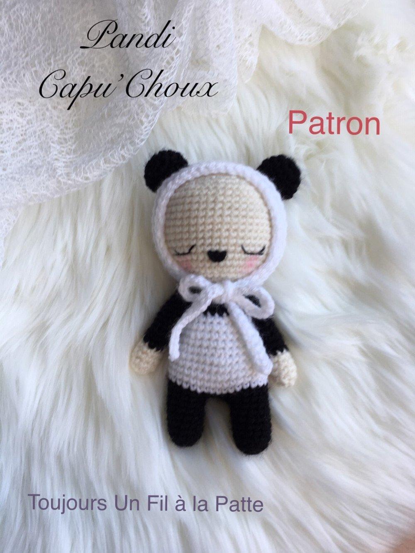 Patron Tutoriel Pandy le Capu'Choux Panda , amigurumi , crochet