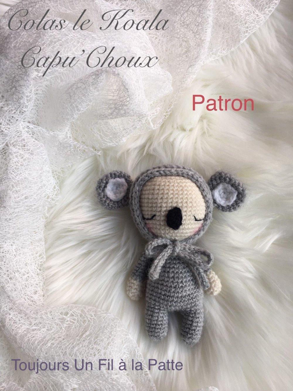 Petit Colas le koala Capu'Choux , amigurumi , patron tutoriel crochet