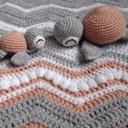 Patron Tutoriel Couverture Bébé Bord De Mer Crochet
