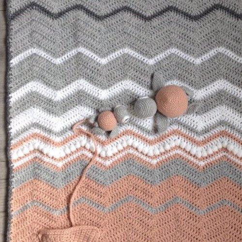 Patron Tutoriel Couverture Bébé Bord De Mer Crochet Amigurumo