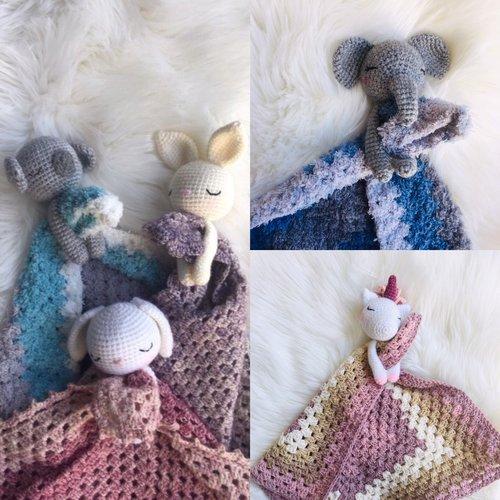 Doudou lapin au crochet – patron gratuit | Mon P\'tit Trésor | 500x500