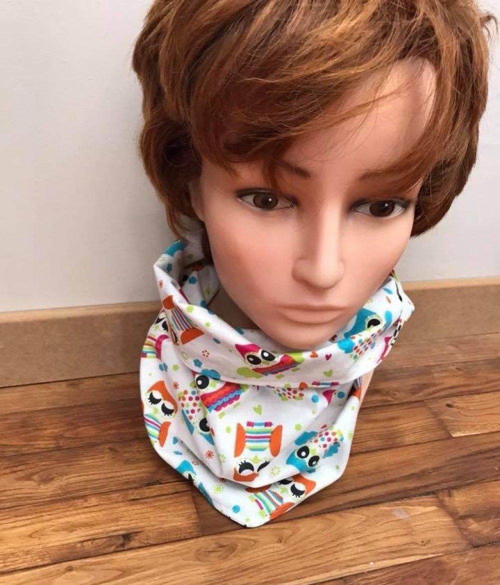 foulard façon snood