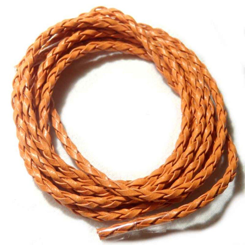 Cordon simili cuir tressé 120 cm