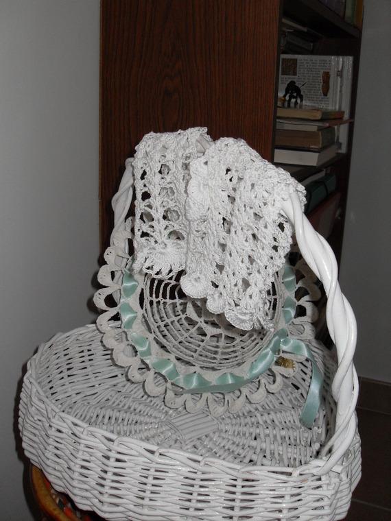 mitaines blanches pour mariée au crochet