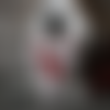 Décoration de noël coeur en feutrine blanche et petit reine en bois rouge