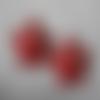 Décoration de noël étoile a suspendre en feutrine - lot de 2