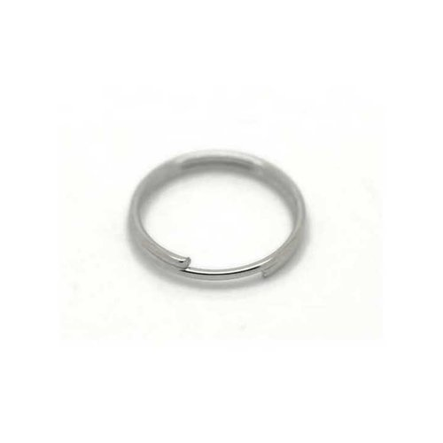 100 Anneaux de jonction 5mm Argente Mat ouvert epaisseur 1mm creation bijoux