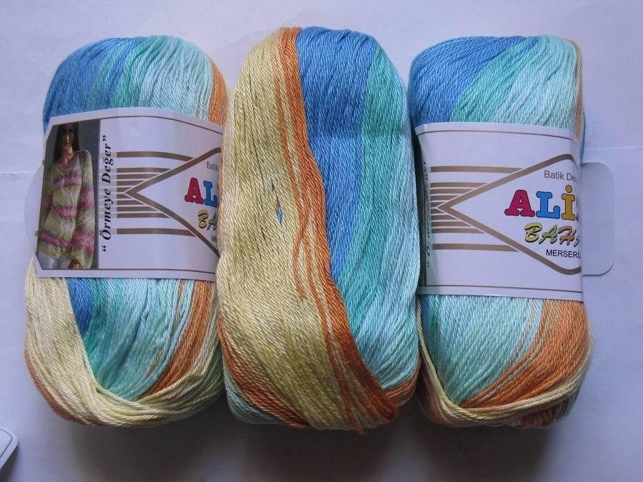 200  gr Bahar Batik 5547 Alize coton