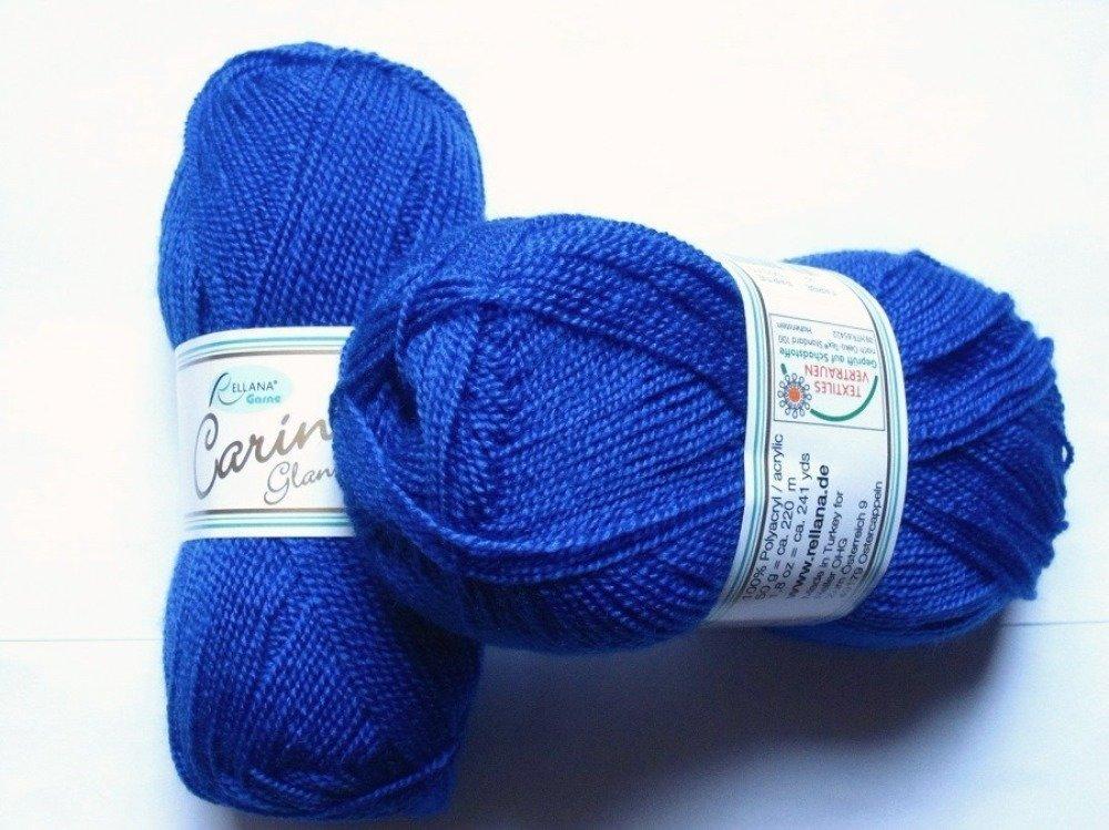 5 pelotes Carina Glanzperle bleu roy 22 Rellana