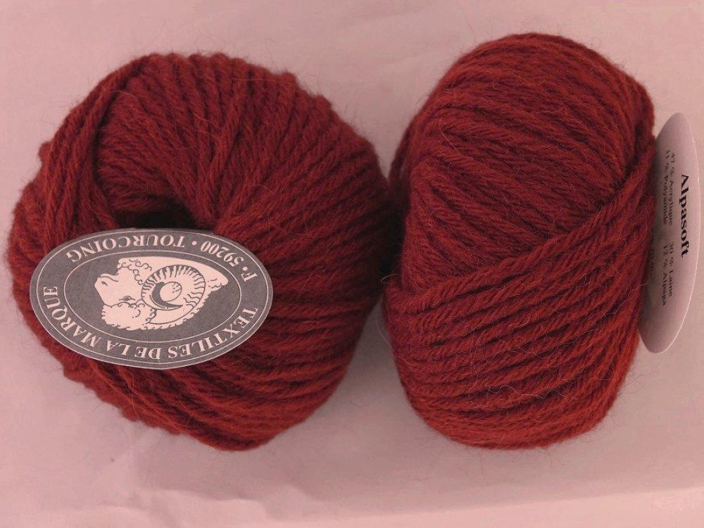 5 pelotes Alpasoft roux 47 Textiles de la marque