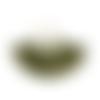 1 pendentif pompon éventail 22 x 33 mm kaki doré