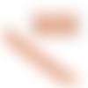 50cm chaine maille chevron épi orange fluo argenté résine epoxy