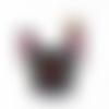 X2 pendentifs breloques charms 3d chien multicolore bijoux accessoire 19x15mm